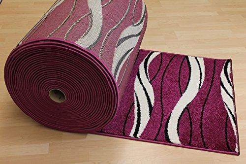 Teppich Läufer Nova lila violett Treppenläufer 80 cm breit Größe 80 x 400 cm