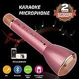 Bluetooth Mikrofon, Drahtlos Karaoke Mikrofon Batterie Mikrofon Kabellos Anlage mit Lautsprecher für Erwachsene Kinder die Aufnahme von Gesang und Sprache KTV Karaoke Player kompatibel PC, Laptop, iPhone, iPod, iPad, Android Smartphon