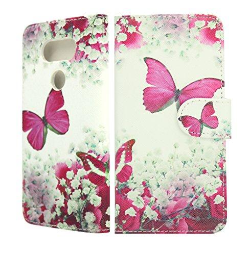 nwnk13® Mehrzweck Seite offenes Buch Wallet Cover Bank-Slot mit eingebautem Ständer für LG G5(830) (Banks Outer Pocket)
