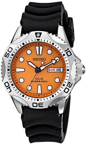 seiko-sne109-mens-quartz-orange-dial-black-rubber-strap-watch