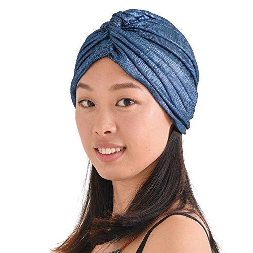lten Turban Bandana Arabisch Indisch Mode Chemo Hut Blau (Aladdin Kostüme Für Frauen)