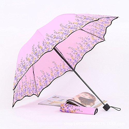 SBBCW Vinyl Regen Oder Sonnenschein Die Das Dreifache Kreativ Sonnenschirm Sonne UV Dame Regenschirm