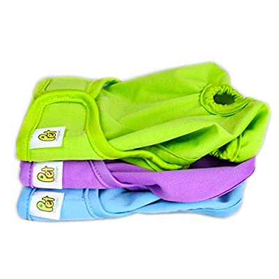 Pet Magasin Reusable Dog Diapers (3-Pack) - Durable Dog Wrap Nappies Luxury Look & Fashionable Design Both Male Female Dogs, Cats, Rabbits & Small Animals