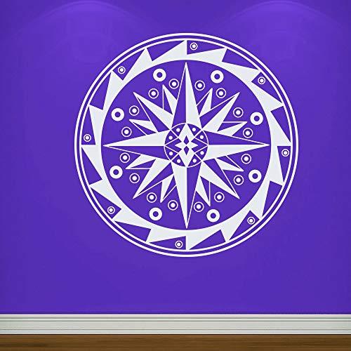 zhuziji Spezielle Mandala Blume Wandtattoo Abstrakte Yoga Studio Vinyl Buddha Wandaufkleber Indisches Muster Moderne Wohnkultur Wandbild 114x114 cm -