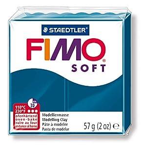 FIMO Staedtler 8020-31. Pasta para modelar de Color Azul calipso Soft. Caja con 1 Pastilla de 57 Gramos.
