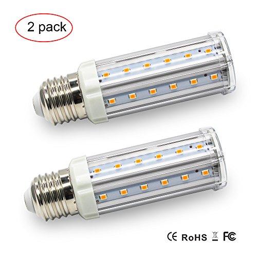 Glühbirnen Dimmer (3 Stufen Dimmer LED Lampe LED Glühbirne Mais Birne Leuchtung 7W-3.5W-1W Dimmen ohne Dimmer Warmweisses Licht Warmweiß 3000K 660 Lumen AC 210V-230V E27 Steckdose Energiesparend LED Leuchtet(2-er Pack))