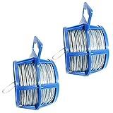 com-four® 100 Meter Bindedraht in silberfarben, 2 Rollen mit je 50 Meter verzinktem Draht (02x 50m glavanisiert)
