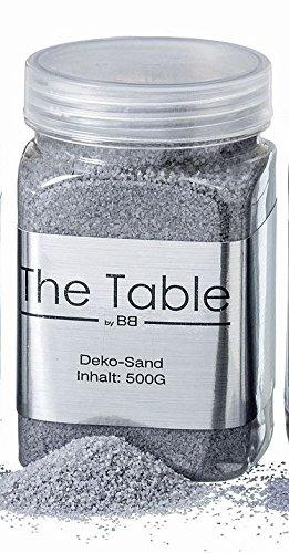 Deko Sand Streu Silber Grau Schimmer ca 500 gramm Boltze Home