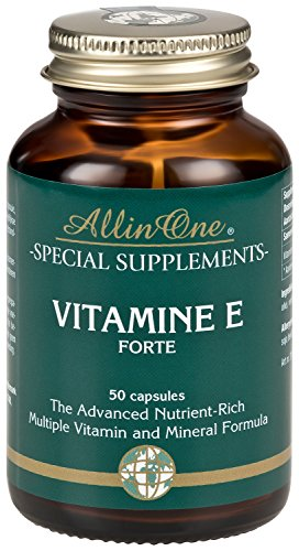 VITAMIN E Forte 400 I.E. - Hochdosiertes, natürliches Vitamin E zum günstigen Preis (50 Kapseln) (Ie 400 Natürliches)