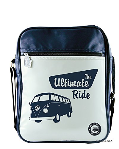 VW Collection by BRISA Schultertasche VW Bulli dunkelblau The Ultimate Ride