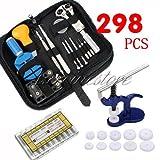 Generic desbarnizadores primavera Pin + caja de reloj de 298 piezas herramientas para la reparación de reloj de recambio para sistema de apertura