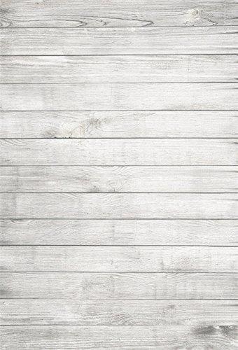YongFoto 1,5x2,2m Vinyl Foto Hintergrund Holzboden Weißes Hölzernes Hellgraues Rustikales Hölzernes Holz Brett Fotografie Hintergrund für Photo Booth Baby Party Banner Kinder Fotostudio Requisiten