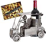 BRUBAKER Portabottiglie da vino regalo - golfista, carrello di golf