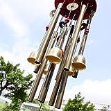 Chinese Traditional Erstaunlich 10 Tubes 5 Glocken Bronze Yard Garten Outdoor Living Wind Chimes 85cm bringen Geld und Glück, bestes Geschenk -