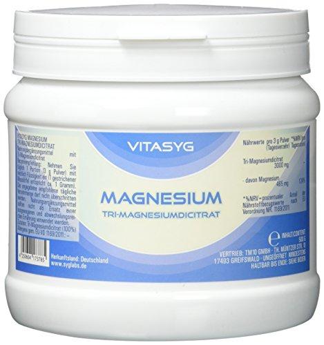 Magnesium Pulver (Vitasyg Tri-Magnesiumdicitrat Pulver - Magnesium Citrat, 1er Pack (1 x 500 g))