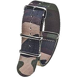 Stash Bands 22mm Jungle Camo austauschbar Ersatz NATO Strap Band-natogreen22