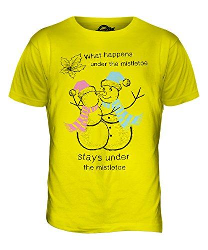 CandyMix Weihnachten Schneemann Herren T Shirt Zitronengelb