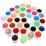 DANCINGNAIL set di 36 colori gel UV per unghie colori brillanti e metallizzati durevoli nel tempo immagine