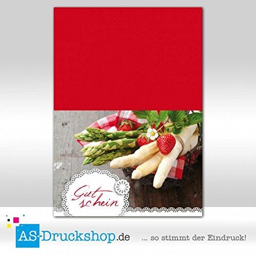 Gutschein Hofladen – Spargel / 50 Stück/DIN A6