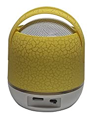 UBON BT-60 Wireless Bluetooth Speaker with Enhanced Bass & support for SD Card and USB powered by Rechargeable Battery (6 hours backup) - Yellow color