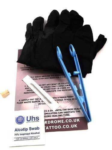 Dctattoo 1.6mm (14g) Sterile pro Klinge Nadel Piercing Set für Doppel Lippen / Schlangenbiss Piercing Set Enthält Hoop / Ring / Bcr Schmuckstück (Hoop Lippe Ringe)