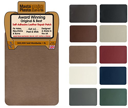 bc71d81ab6 MastaPlasta Self-Adhesive Leather Repair Patch. New XL 28cmx20cm. Choose  colour. First