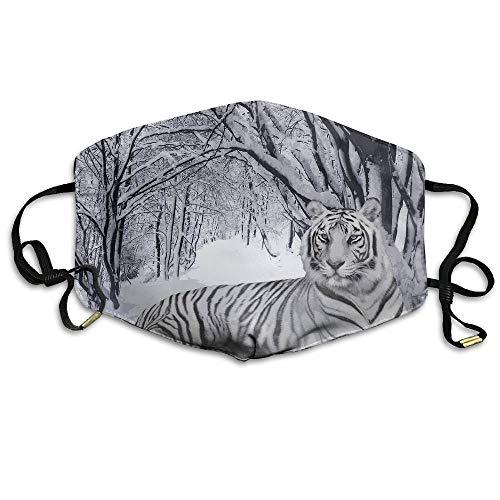 White-Tiger Mund Maske Best Comfortable,Reusable - Filters Dust,Pollen,Allergens, Flu Germs Dust Mask (White Tiger Ohren)