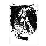 Frankenstein Chasse Noir blanc Matte/Glacé Affiche A4 (30cm x 21cm)   Wellcoda...