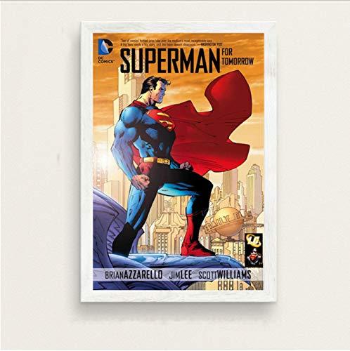 haoxinbaihuo Justice League Klassische Dc Comic Buch Abdeckung Kunst Malerei Silk Leinwand Poster Wand Wohnkultur 30 * 40 cm Kein Rahmen