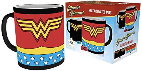- mit Thermoeffekt Tasse multicolor (Heißes Wonder Woman Kostüm)
