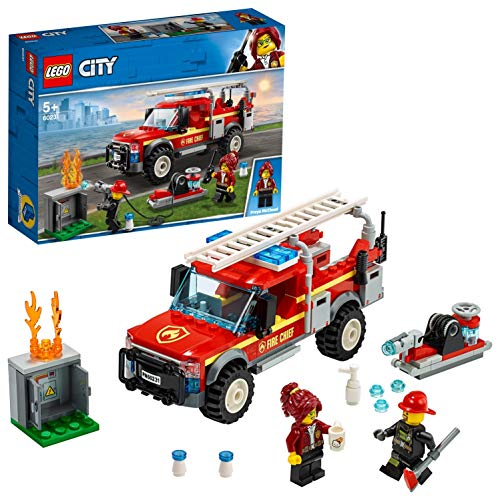 LEGO 60231 City Town Fire Chief Response Truck Set with Fire Engine and Water Cannon, Toys for Kids 5 Years Old Best Price and Cheapest