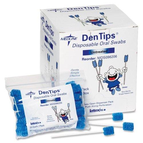 DenTips Einweg Oral Tupfer -, Premium Qualität - Toothette Oral Care