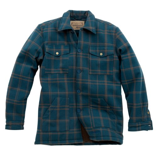 Twist Herren AMARILLO Shirt Jacke, Herren, Deep Teal Plaid (Plaid Teal Flanell)