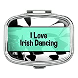 Rectangle Pill Case Trinket Gift Box I Love Heart Sports Hobbies Go-Ir - Irish Dancing