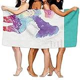 "Hats New Beach Towel Llamas - Coworker Sheep Cute Animals 80"" X 130"" Soft Lightweight Absorbent for Bath Swimming Pool Yoga Pilates Picnic Blanket Towels"