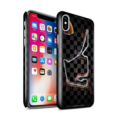 STUFF4 Glanz Snap-On Hülle / Case für Apple iPhone X/10 / Belgien/Spa Muster / 2014 F1 Piste Kollektion Deutschland