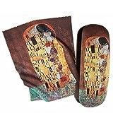 Artis Vivendi Twin Glasses Case and Lens Cleaning Cloth–Gustav Klimt The Kiss