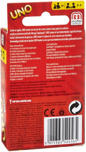 Mattel Games UNO Junior,  juego de cartas (Mattel 52456)