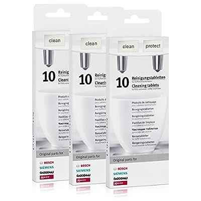 3x 10original cleaning tablets Siemens / Bosch / Neff / Gaggenau