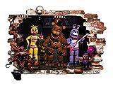 FNAF Stickers muraux pour chambre à coucher garçons et filles Affiche murale Autocollant mural Art FNAF papier peint autocollant pour chambre d'enfant Décoration murale salles de jeux à cinq Nuits à Freddy Sticker mural Decoracion Taille 78cm (779,8cm) X57cm (569cm)