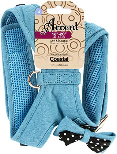 Coastal Pet Products Accent Microfiber Dog Harness Small-Blue