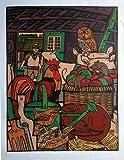 Unbekannt Siebdruck, Kenn Burrows-59x76cm - Siebdruck-Poster, Poster Hof