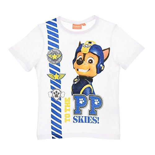 T-shirt maglietta paw patrol bambino ragazzo sun city taglie 3/6 anni - er1394bianco