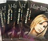Miya 1 Set Hair Bling Kristall Haarschmuck Glitzersteine zum einfädeln Kinder Strassteine steinchen Glitzer Frisur Haarkristalle ohne Hitze einfädeln HB002