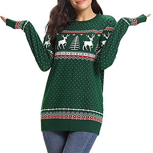 (VEMOW Weihnachten Frauen Sweatshirt Herbst Heißer Casual Daily Party Sport Freizeit Reißverschluss Punkte Drucken Tops Mit Kapuze Pullover Bluse T-Shirt(X1-d-Grün, EU-42/CN-2XL))