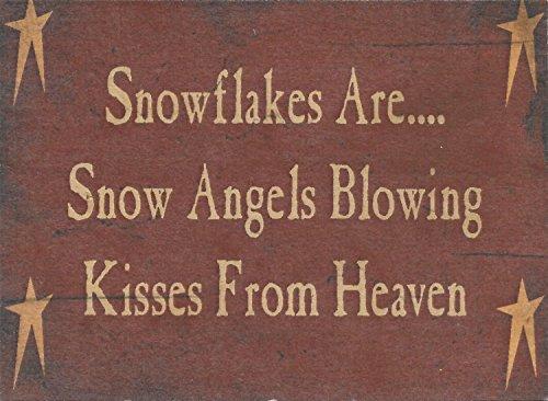 Farmisms 4x 3Inspirierende Holz rustikal Land Schilder für Country Farm Living--Snowflakes Sind. Snow Angels Blowing Kisses vom Himmel (Ideen Eine Party Block Für Halloween)