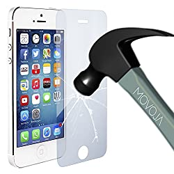 Movoja Display-Schutz-Glas kompatibel mit iPhone 5 5S | Gorilla Glas Glass Schutzfolie Displayschutz Screen Protector
