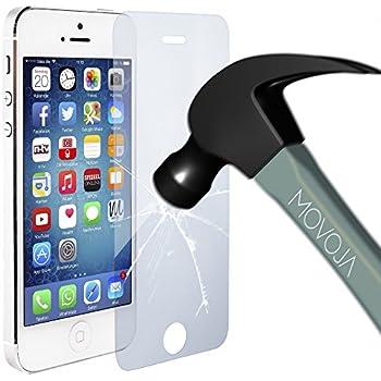 Movoja Display-Schutz-Glas kompatibel mit iPhone 5 5S