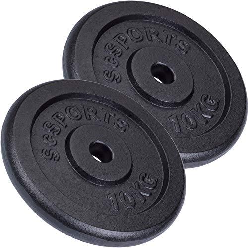 ScSPORTS - Pesas en Forma de Disco con Orificio de 30 mm