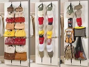 Rangement pour sac à main casquettes tissu pour armoire porte 16 sacs
